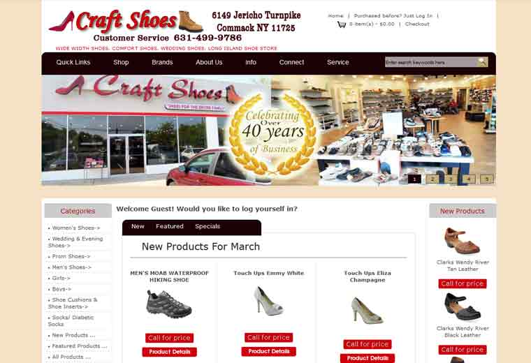 b91ce02519ac4 Craft shoe Store – DPI Websites, Web Design, Web Hosting, and E Commerce