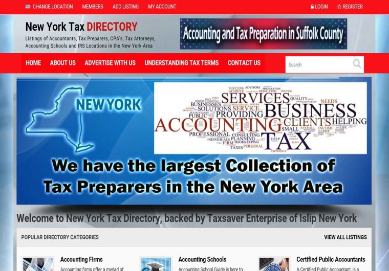 New York Tax Directory – DPI Websites, Web Design, Web